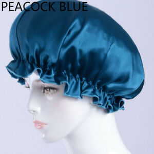 Lady-Silk-Night-Cap-Hats-Sleep-Hair-Care-Hair-Beauty-Head-Covers-Wrap-Satin-Chic