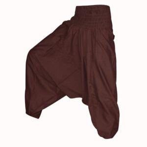 Aladdin-Unisex-Harem-Pant-Indian-Handmade-Trouser-Gypsy-Boho-Hippie-Yoga-Dance