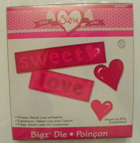 your choice die cut Free Shipping NEW Sizzix Dies Love Valentines