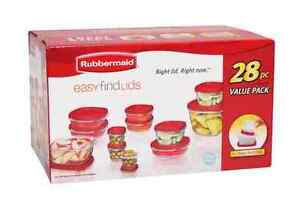 Rubbermaid Easy Find Lids 28 PC set food Storage Container #EbayWishlist