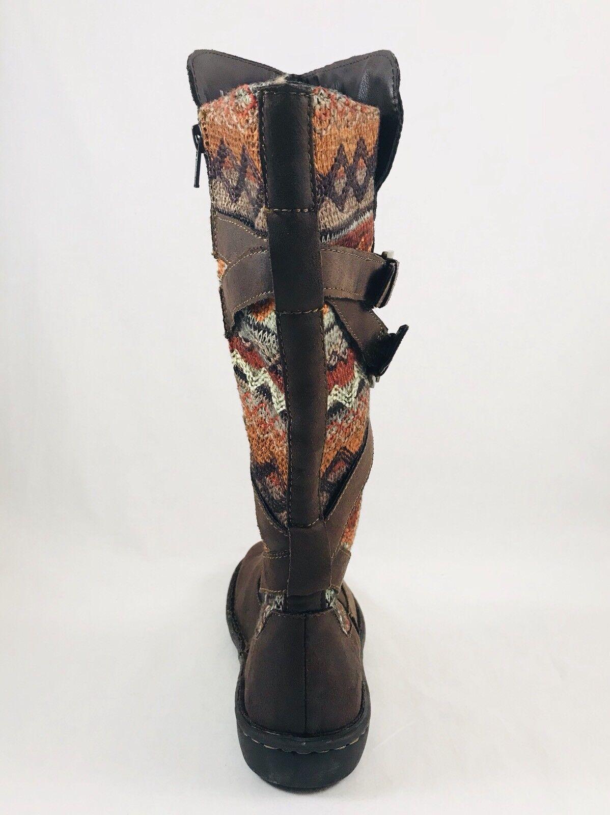 Born Concepts B.O.C. Marghera Dark Mid Stiefel Side Zip Dark Marghera Braun Damenschuhe Sz 8.5 a09520