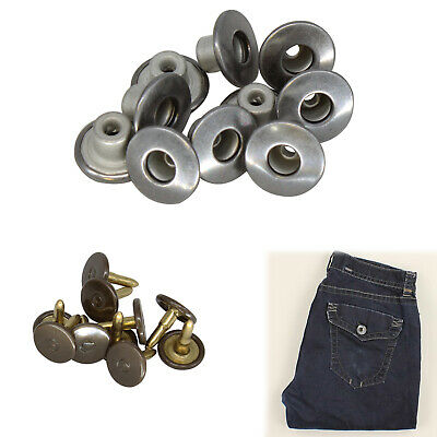 14mm Gunmetal Brass Jeans Buttons Replacement Snap Pins for Denim Jackets Coats
