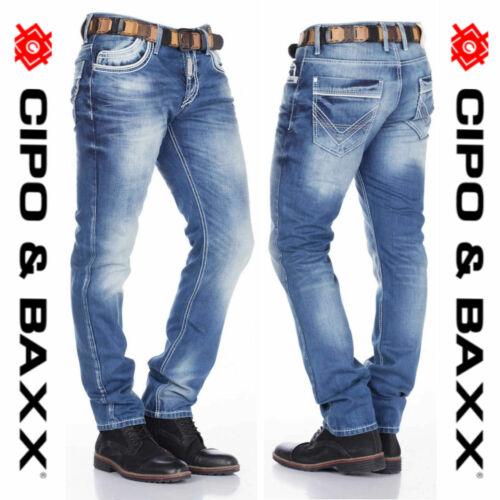 Cipo & Baxx Herren Jeans cd184 nuevo pantalones Straight Cut
