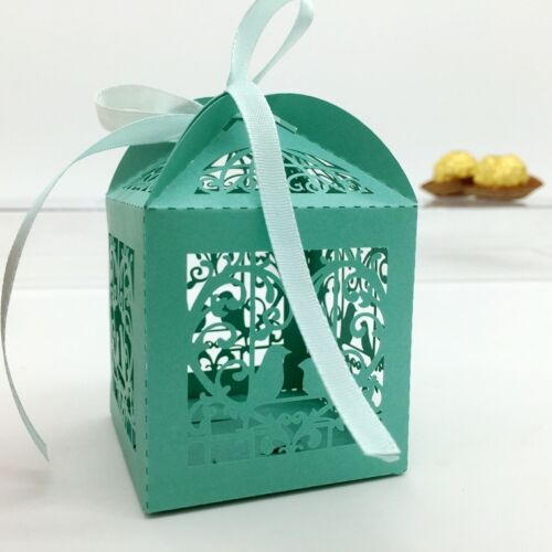 12 design 100 pcs Luxury Pearlescent Sweets Cake Candy Gift Favour Favors Boxes