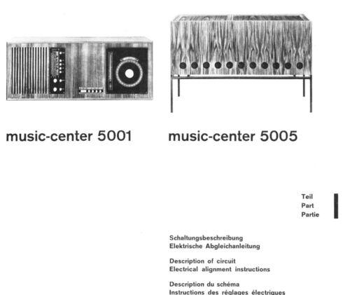 SCHAUB LORENZ 5001 /& 5005 MUSIC CENTRE SERVICE MANUAL BOTH PARTS 148 PAGES
