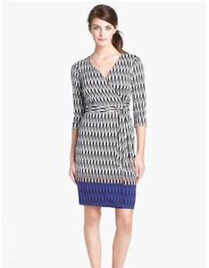 616befff9838 $595 Diane von Furstenberg Wrap Silk Dress in MODERN HARLEQUIN 2 4 6 ...