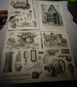 Ancien-Catalogue-d-039-Imprimeur-Illustrateur-de-Publicite-Facture-Philippe-Paris