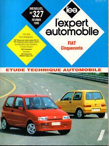 Respectueux Rta Revue Technique Automobile N° 327 Fiat Cinquecento Moins Cher