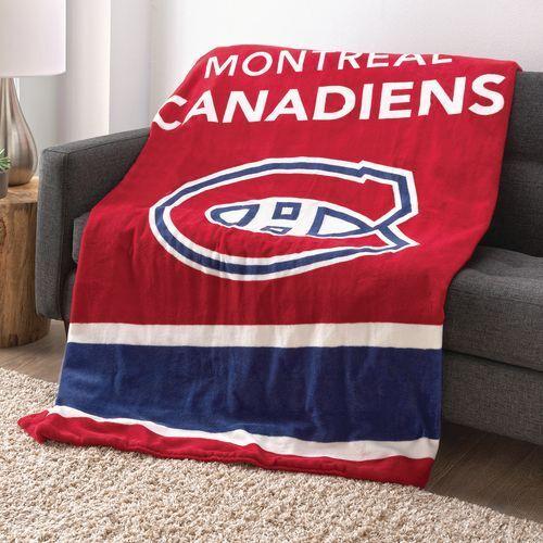 Sunbeam NHL Teams Microplush Heated Throw Blanket - Montreal Canadiens