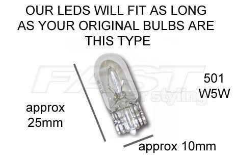 Super Bright DEL Side Light T10 W5W 501 pour LEXUS