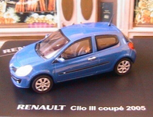 RENAULT CLIO 3 III COUPE 2005 BLEU ELIGOR 1 43 43 43 bleu NEW bleu MODELCAR DIE CAST 9a9d55
