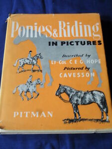 Vintage-1952-Horse-Book-PONIES-amp-RIDING-IN-PICTURES-Lt-Col-C-E-G-HOPE
