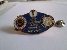 a1 SPARTA PRAHA - INTER cup uefa europa league 2017 spilla football calcio pins