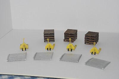 Loading dock accessory kit. 1//48 scale laser cut warehouse