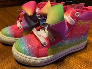 Jojo Siwa Glitter rainbow Bow Shoes