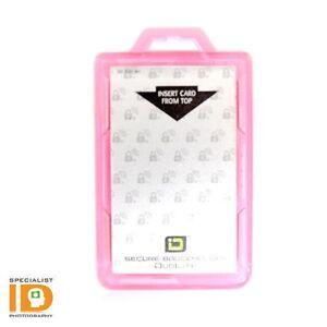 Identity Stronghold DuoLite - RFID Blocking Two Sided ID Badge Holder - Pink