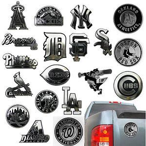 New-MLB-Pick-Your-Team-3D-Chrome-Plastic-Auto-Car-Truck-Emblem-Sticker-Decal