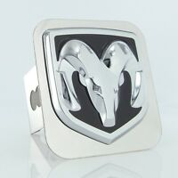 Dodge Chrome Logo Trailer Hitch Plug Cover