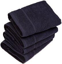 6 x Black Luxury Hair/Hand Towels (Chlorine Resistant) 50 x 85cm 400GSM