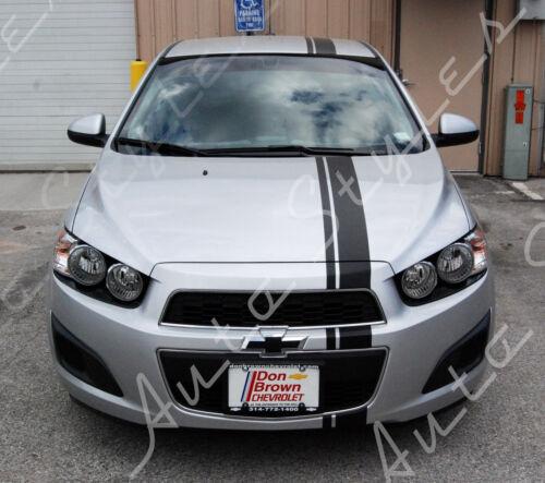 Custom Racing Stripes Vinyl Kit Body Accessory Decal Chevy Sonic 3 Piece Set!