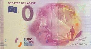 BILLET-0-EURO-GROTTES-DE-LACAVBE-FRANCE-2017-NUMERO-100