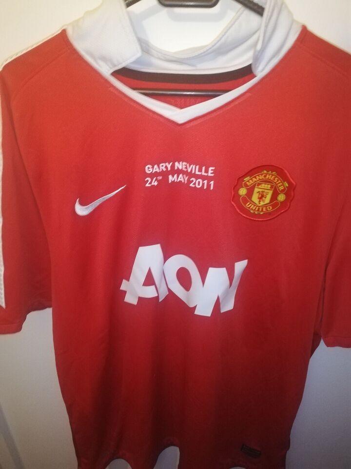 Fodboldtrøje, Gary Neville manchester united trøje, Nike