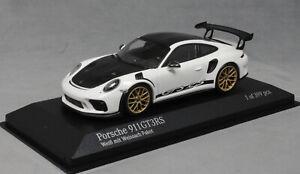 Minichamps-PORSCHE-911-991-GT3RS-Weissach-in-bianco-con-ruote-in-oro-2018-410067022
