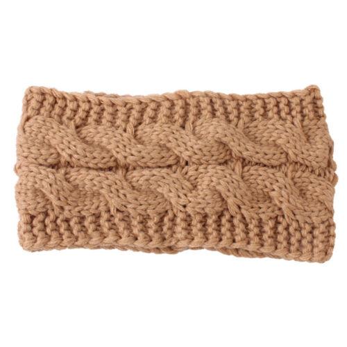 Hat Womens Knitted Warm Winter Wool Crochet Wide Hair Band Headband Head Wrap
