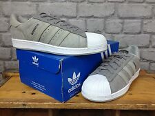 ADIDAS MENS UK 9 EU 43 1/3 SUPERSTAR GREY T DIAMOND PATTERNED TRAINERS *RARE*