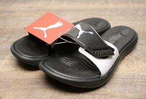 PUMA Ladies  Slide Sandal Black Size 7 NEW AUTHENTIC - 1779 ... c9530fe66