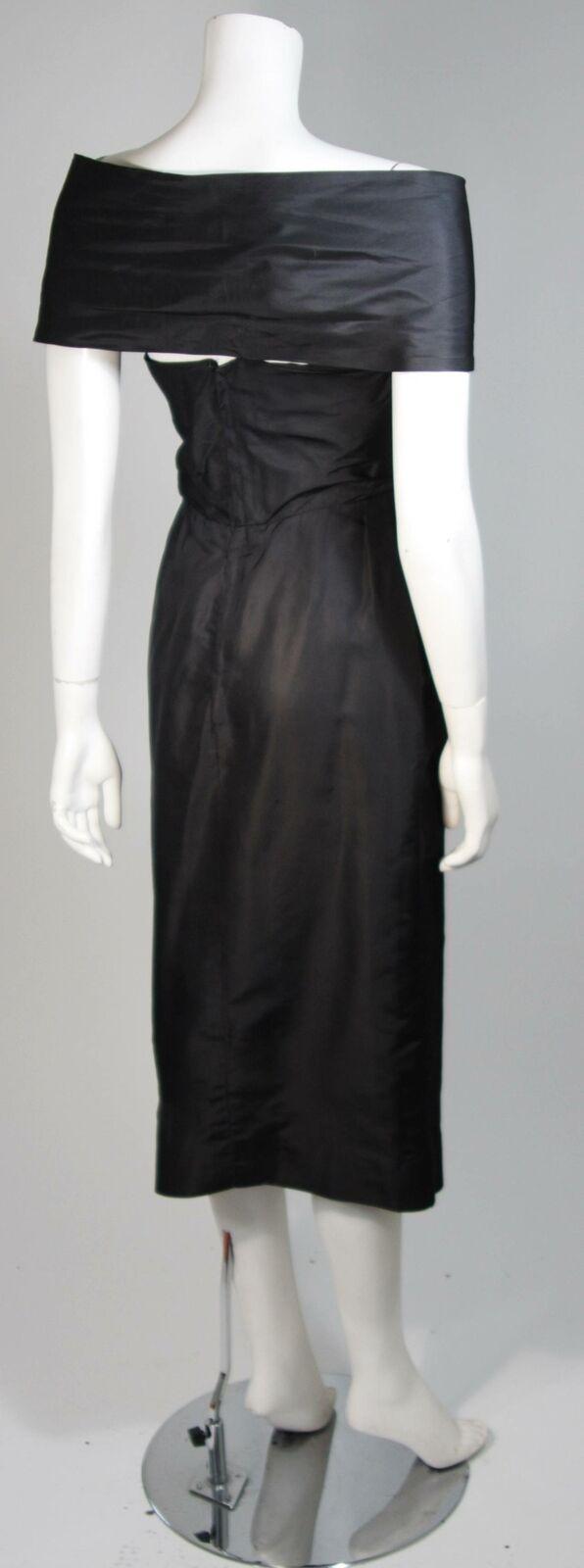 CEIL CHAPMAN  Black Cocktail Dress with Draped De… - image 8