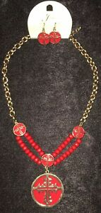 Necklace-Earring-Set-Gold-Red-Beads