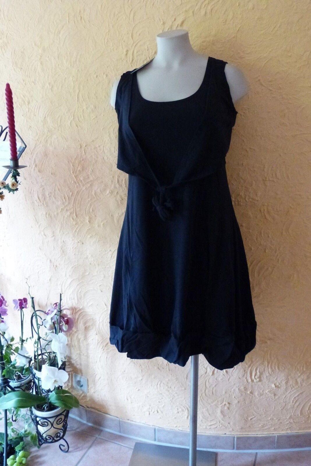 d77238f7f1796f BORIS INDUSTRIES Ballon Kleid mit Weste 42 44 (2) NEU schwarz LAGENLOOK  Stretch nnhhtb3009-Kleider