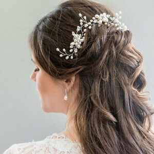 Women-Wedding-Bridal-Pearl-Flower-Crystal-Hair-Pins-Bridesmaid-Clip-Side-Comb-so