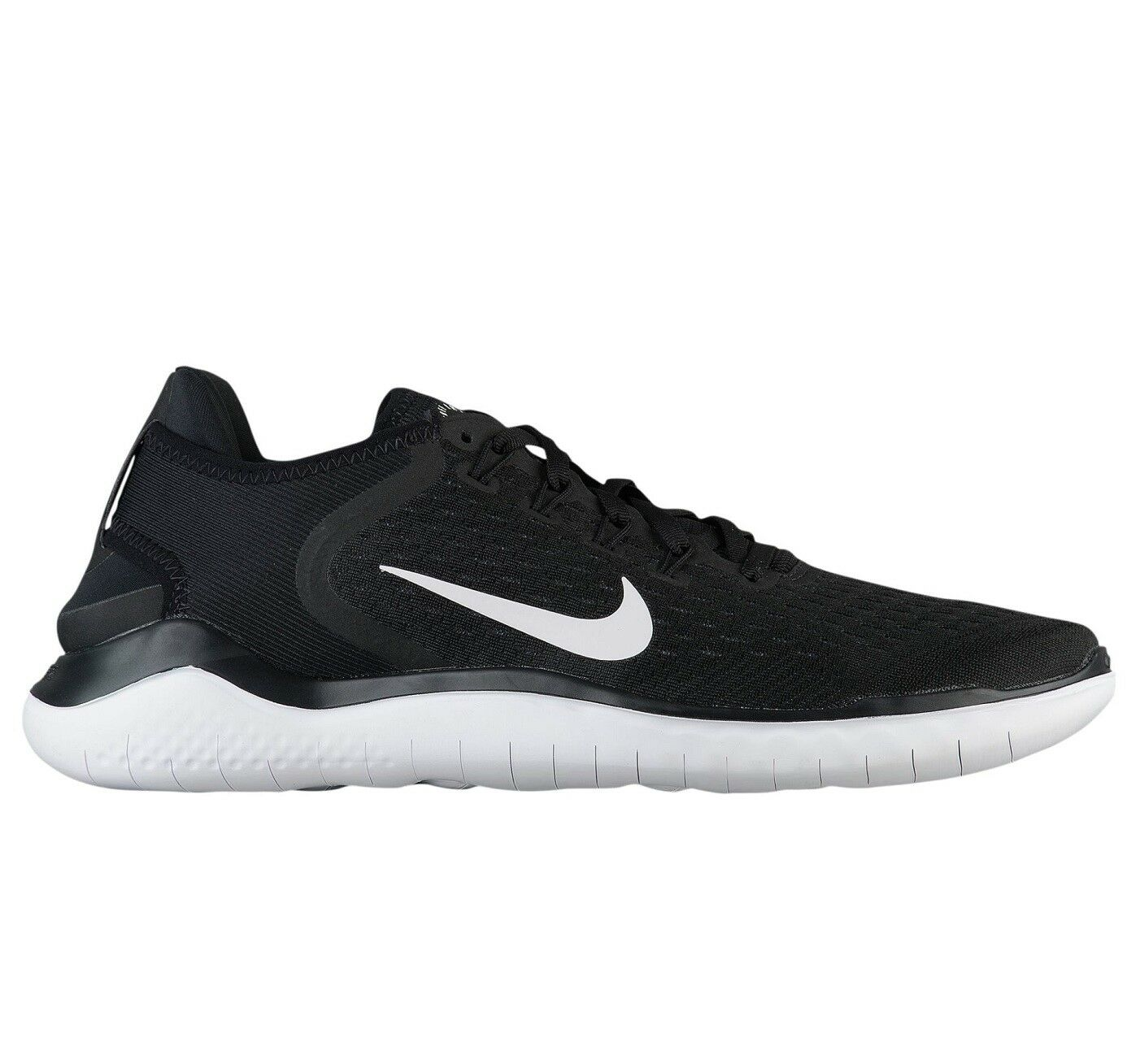 Nike Free RN 2018 Mens 942836-001 Black White Knit Running Shoes Size 8