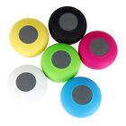 Suction Mini Wireless Bluetooth Speaker Waterproof Shower Pool Car Handsfree Mic