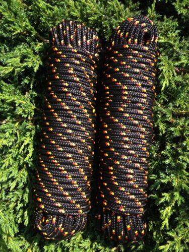 Nr.39 Schot,Kordel,Rope,Tauwerk,Tau 12mm 30m,Reepseil,Seil,Band,Schnur,Schwarz.