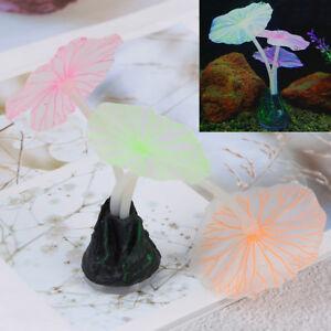 Aquariums-accessory-artificial-coral-reef-glowing-fish-tank-lotus-leaf-luminous-amp