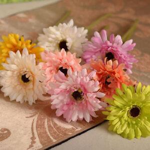 Image Is Loading Artificial Fake Silk Gerbera Daisy Flower Bouquet Wedding