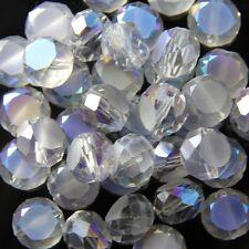 10pcs 10mm Swarovski  Flat drum Crystal beads C hyaline Blue