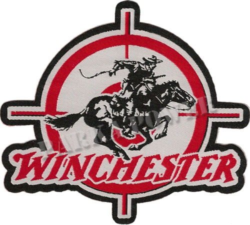 Rifles Iron on Hunters, Guns Winchester Woven Patch Badges