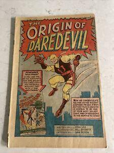 VINTAGE MARVEL DAREDEVIL 1 ORIGIN OF DAREDEVIL STAN LEE COVERLESS NR NICE!!
