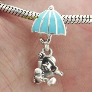 925-Sterling-Silver-Disne-Jiminy-Cricket-Dangle-Charm-Blue-Enamel-Fit-Bracelet