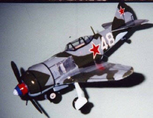Lavochkin LA-5FN/ LA-7 Russian fighter 1/24 scale balsa kit
