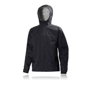 lavoro impermeabile giacca con nero lunga Mens cappuccio Hansen manica da Helly Loke FqAOP1Oa