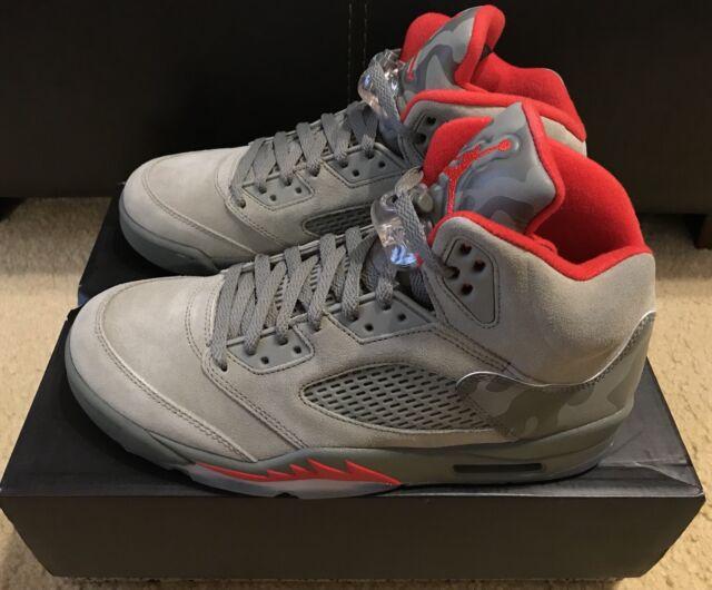 8a11f8704851d Nike Air Jordan 5 Retro Reflective Camo Men's sz 10 Dark Stucco Red 136027  051