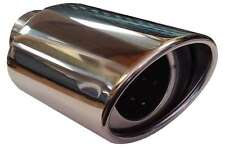Seat Ibiza 115X190MM OVAL EXHAUST TIP TAIL PIPE PIECE CHROME SCREW CLIP ON