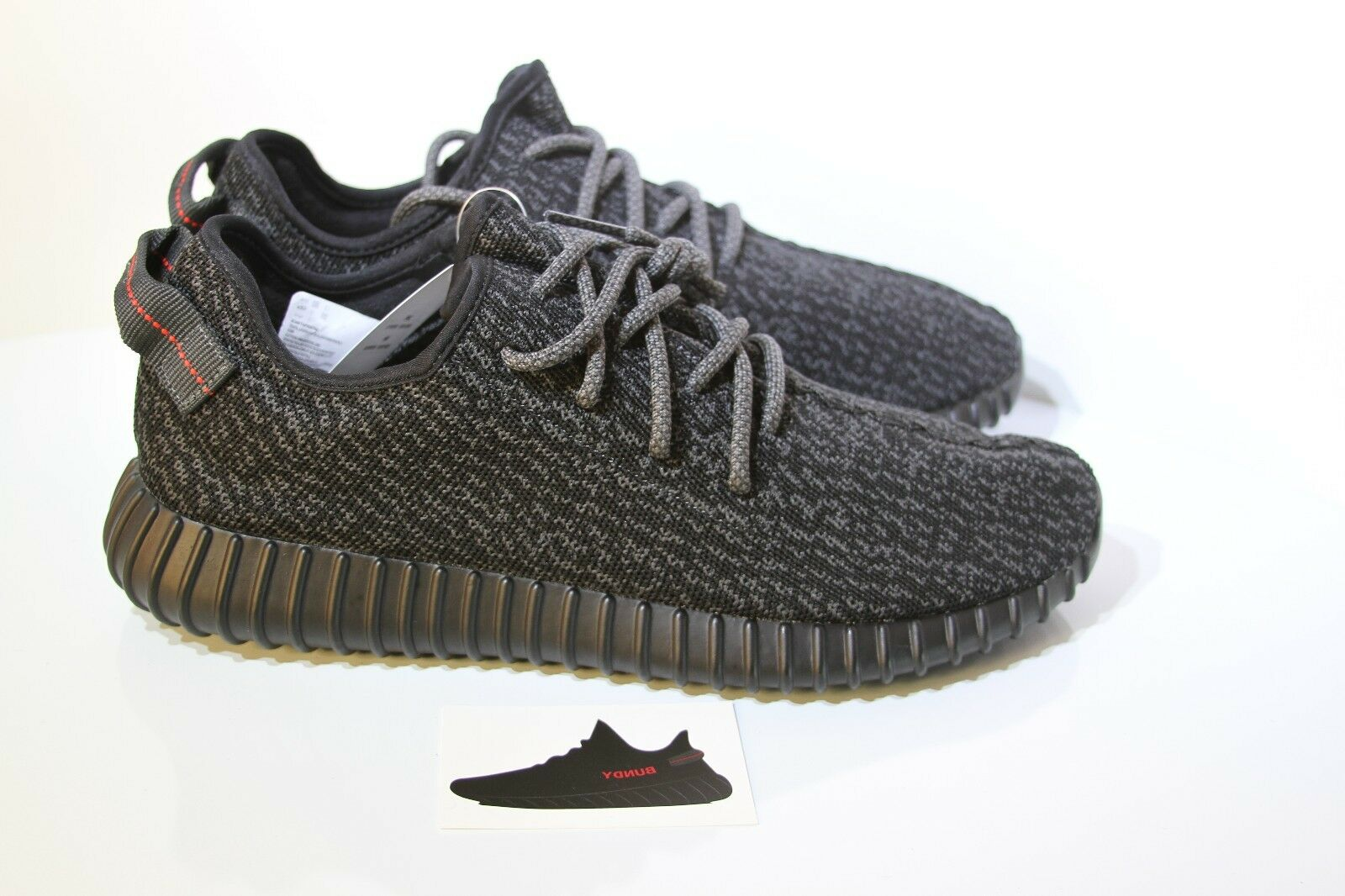 ADIDAS YEEZY BOOST 350 LOW US Size 12  PIRATE BLACK V1 2015 DEADSTOCK