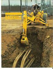 Ih International Heavy Duty Backhoes For Utility Tractors Crawler Dozer Brochure