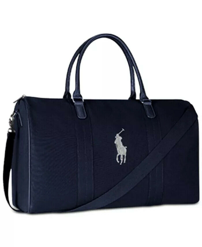 NEW Authentic Ralph Lauren Polo Hand Bag travel Gym Weekender Blue duffle